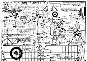Morane Saulnier RC Model Airplane - YouTube